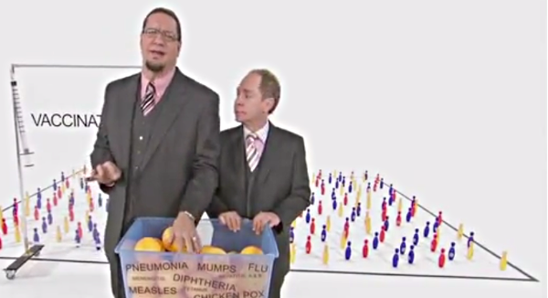 Penn & Teller de-construct the anti-vaccine movement