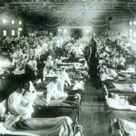 Historical photo of the 1918 Spanish influenza ward at Camp Funston, Kansas, showing the many patients ill with the flu. Credit:U.S. Army photographer (Source: Army.mil )